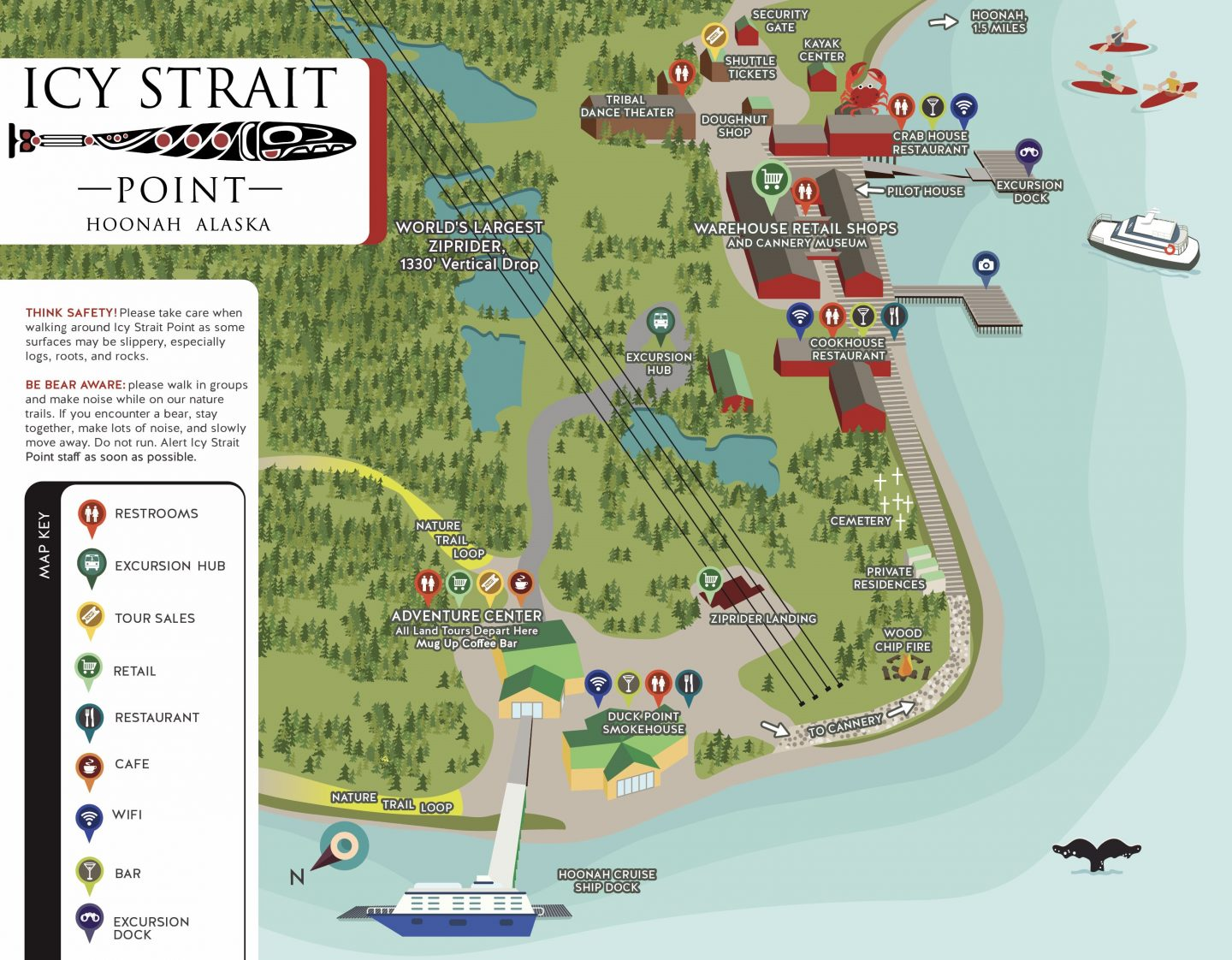 Icy Strait Point Alaska Map.About Us Icy Strait Point Icy Strait Point